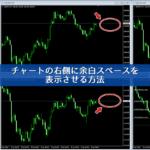 MT4のチャートの右側に余白を表示させる方法