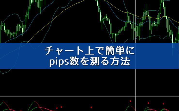 チャート上で簡単にpips数を測る方法