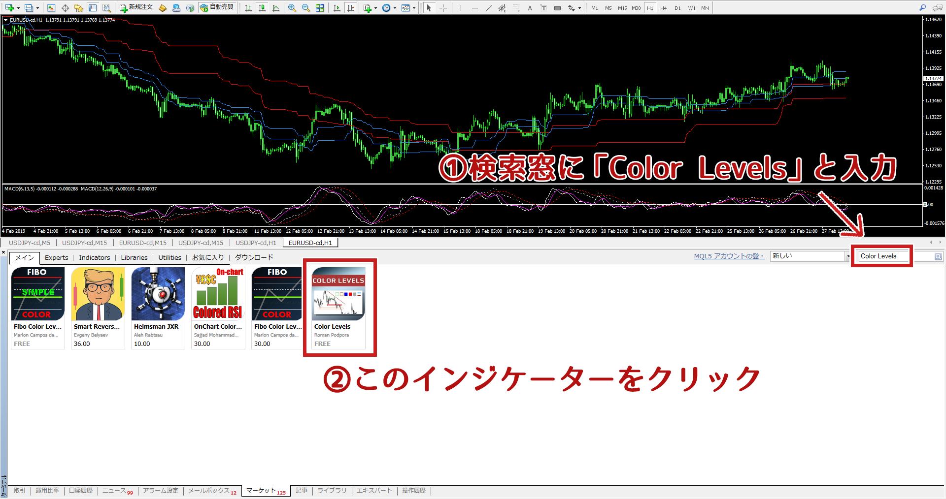 Color Levelsの検索方法
