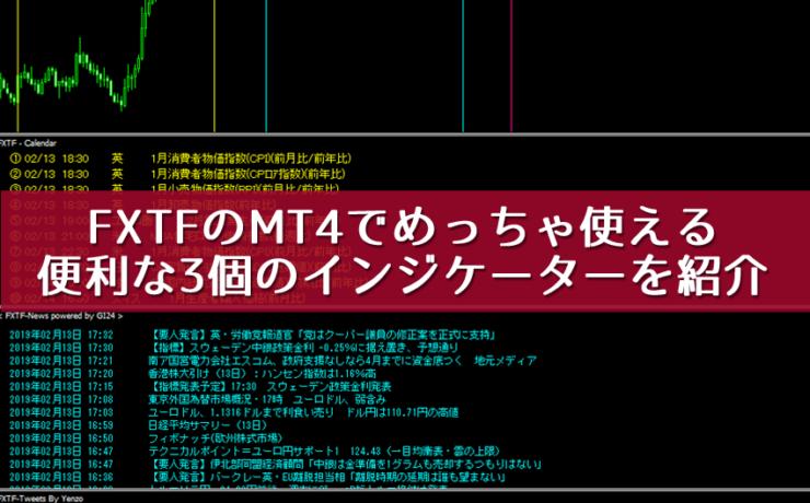 FXTFのMT4で使える便利な3つのインジケーターを紹介