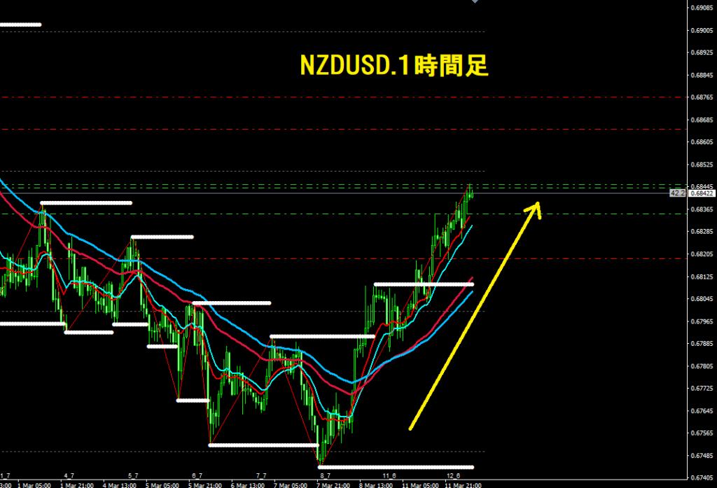 ニュージードル、ドル1時間足チャート画像