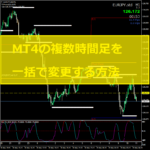 MT4で複数チャートの時間足を一括で変更する方法