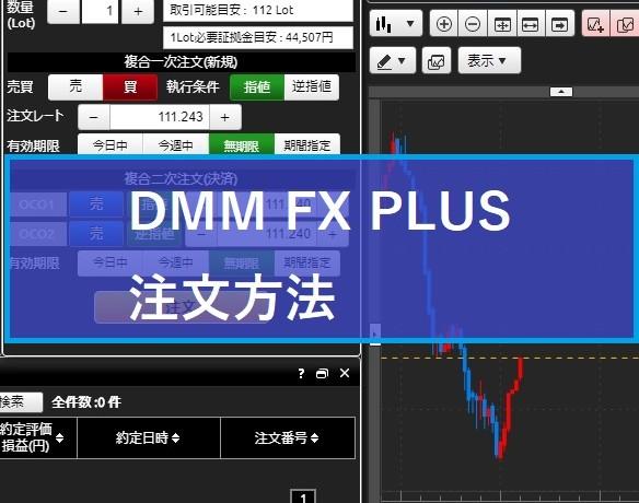 DMM FXの「DMM FX PLUS」を使った注文方法