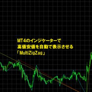 MT4のインジケーターで高値安値を自動で表示させる「MultiZigZag」