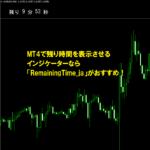 MT4で残り時間を表示させるインジケーターなら「RemainingTime_ja」がおすすめ!