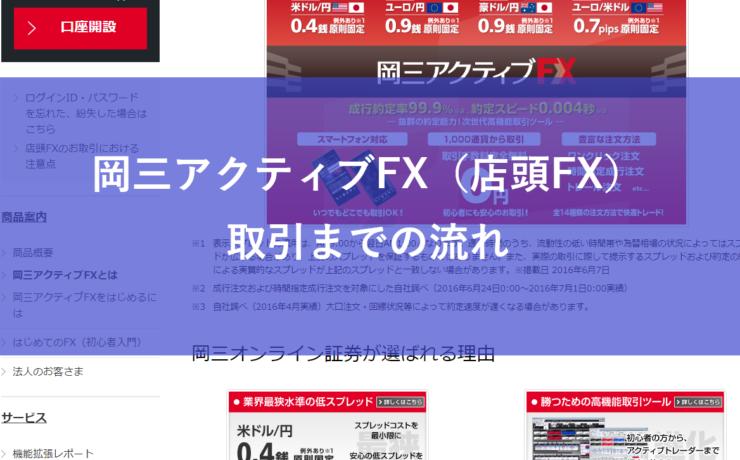 岡三アクティブFX(店頭FX)取引までの流れ