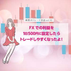 FXでの利益を1日500円に設定したらトレードしやすくなった