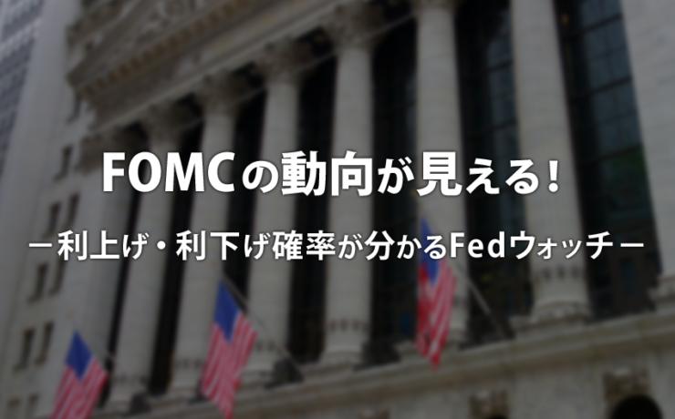 FOMCの動向が見える!利上げ・利下げ確率が分かるFedウォッチ