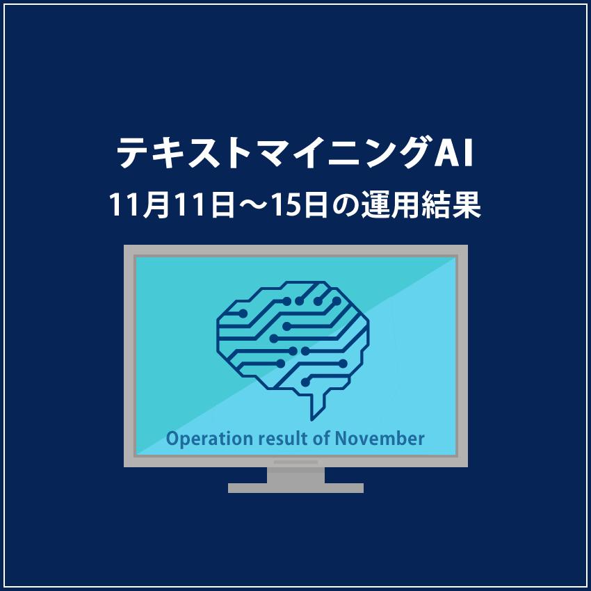みんなのシストレ「テキストマイニングAI」11月15日までの結果