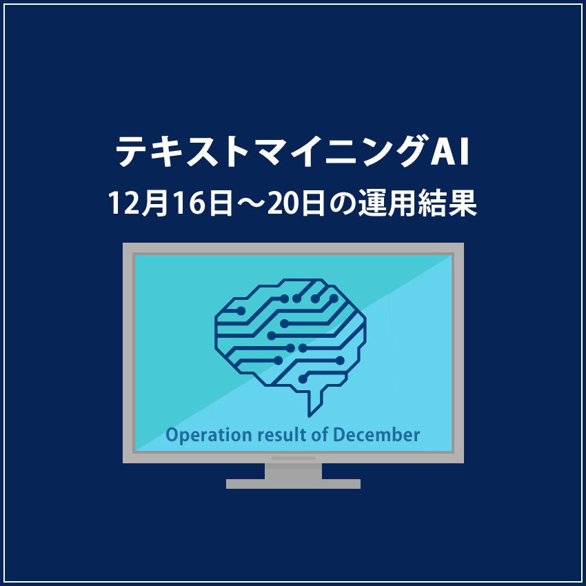 みんなのシストレ「テキストマイニングAI」12月20日までの結果