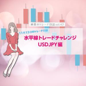 水平線トレードチャレンジ8回目 11月13日USDJPY編