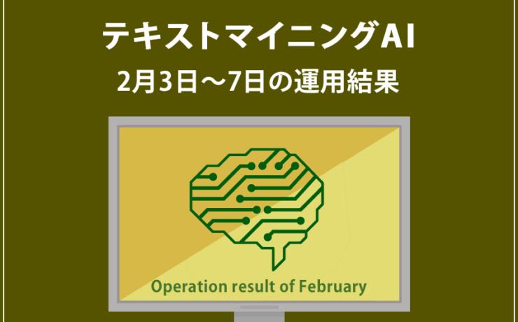 みんなのシストレ「【EURUSD】テキストマイニングAI」2月3日~2月7日までの結果