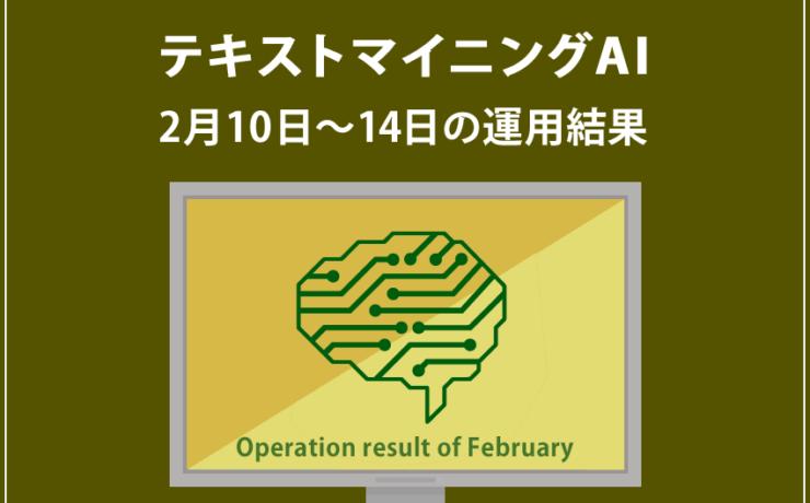 みんなのシストレ「【EURUSD】テキストマイニングAI」2月10日~2月14日までの結果