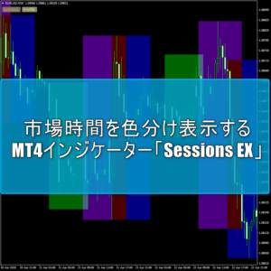 アジア・欧州・NYなどの市場時間を色分け表示するMT4インジケーター「Sessions EX」