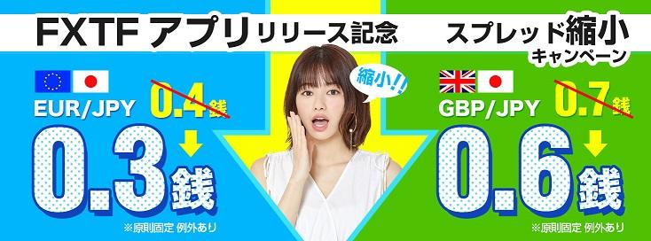 ユーロ円とポンド円のスプレッド縮小キャンペーン