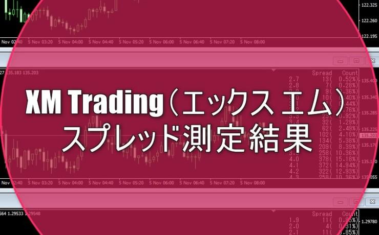 XM Trading(エックス エム)のスプレッド測定結果を公表中!