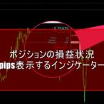 ポジションの損益状況をpips表示するインジケーター