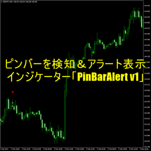 ピンバーを検知してアラートで知らせてくれるインジケーター「PinBarAlert v1」