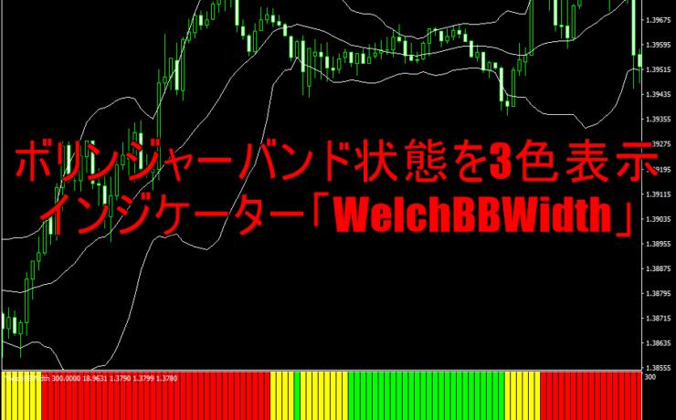 ボリンジャーバンドの状態を3色バーで表示するインジケーター「WelchBBWidth」