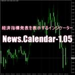 経済指標発表を表示するインジケーター「News.Calendar-1.05」