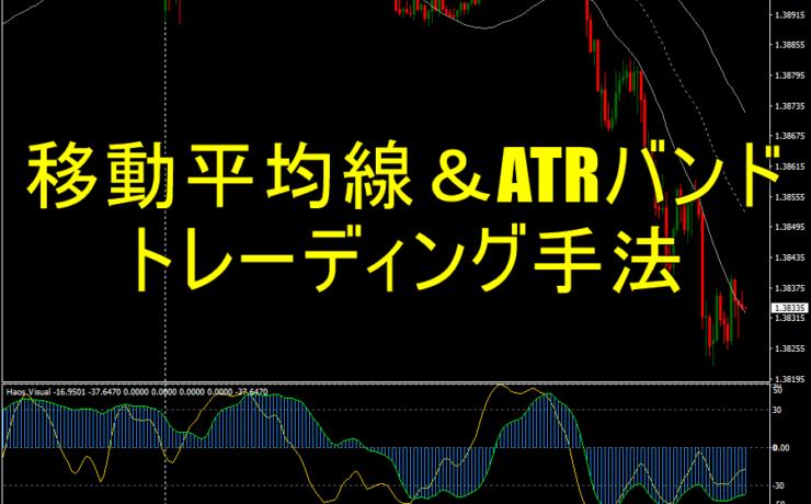 移動平均線&ATRバンドを使ったトレーディング手法