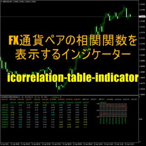FX通貨ペアの相関関数を表示するインジケーター「icorrelation-table-indicator」