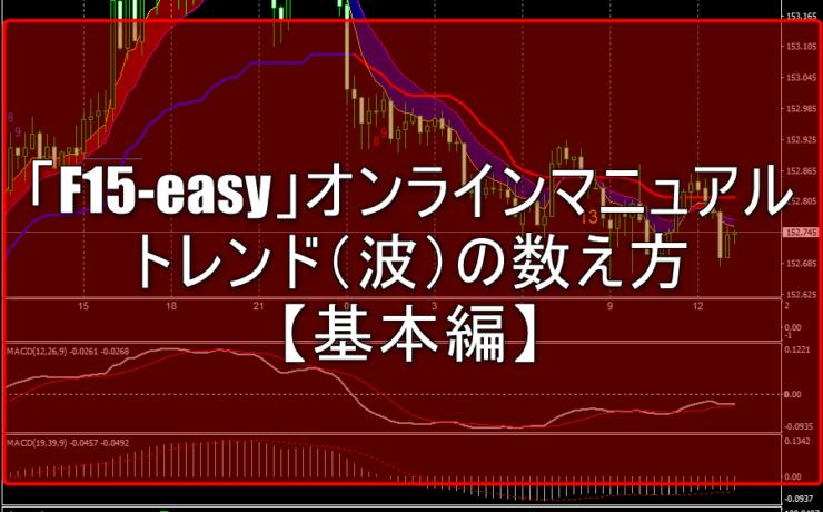 「F15-easy」オンラインマニュアル:トレンド(波)の数え方【基本編】