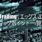 XM Trading(エックス エム)のスワップポイント一覧!