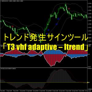 トレンド発生サインツール「T3 vhf adaptive - Itrend」