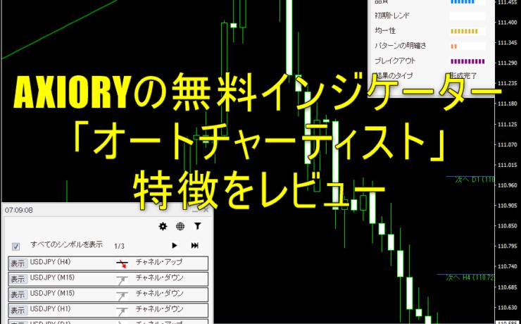 AXIORYの無料インジケーター「オートチャーティスト」の特徴をレビュー
