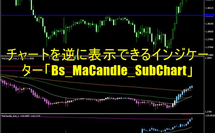 チャートを逆に表示できるインジケーター「Bs_MaCandle_SubChart」